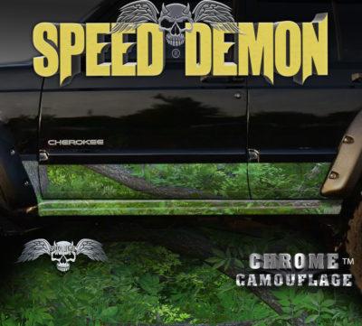 Jeep Cherokee Rocker Panel Camo Wrap Forest Camouflage